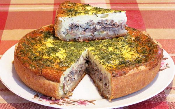 Фантастический рыбный пирог со сметаной