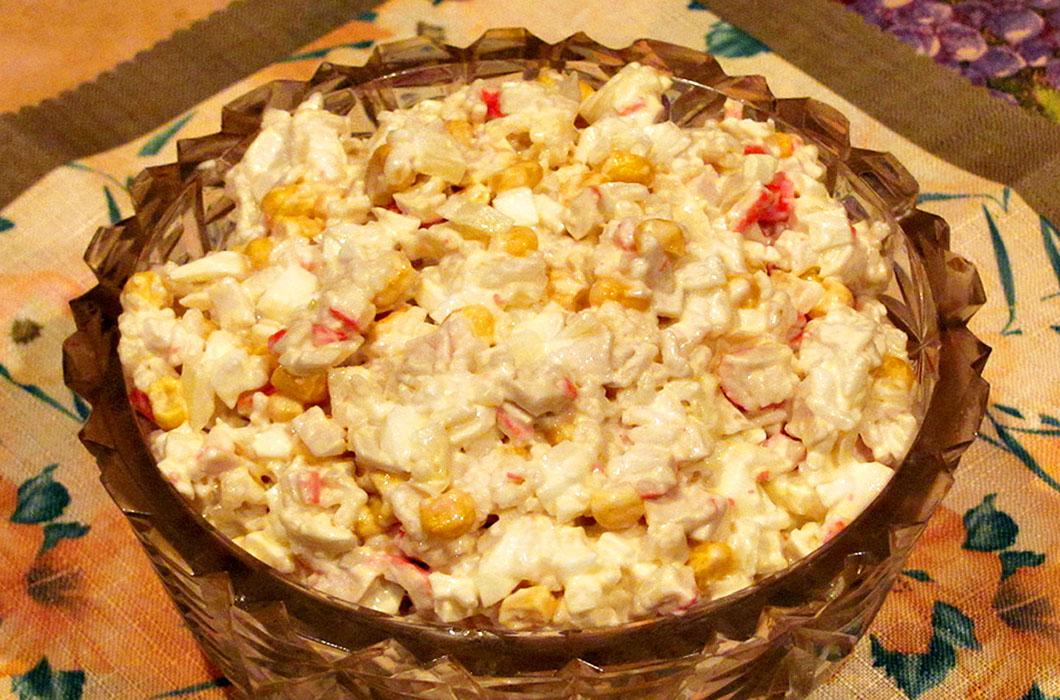 Немыслимый салат из крабовых палочек
