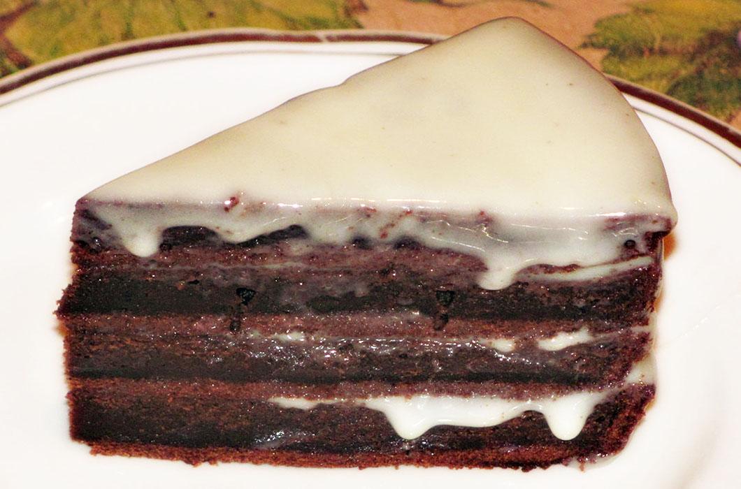 Прикольный торт «Поцелуй негра»